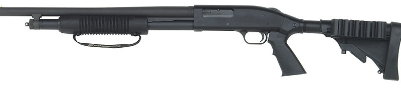 Mossberg 500 Shotgun - Left-handed Tactical with Ajustable Stock